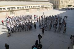 تحضيرات الأحتفال بأستقبال الرئيس العام بمعهد دون الأسكندرية
