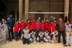 فعاليات اللقاء  الرياضي في الفسحة للصف الاول الاعدادي مع مدرسة سان ميشيل